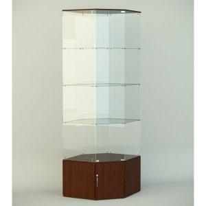 Стеклянная витрина серии СТ 8 1740х701х701мм