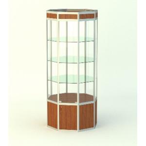 Островная витрина Алмаз 1 с фризом, накопитель 500мм.