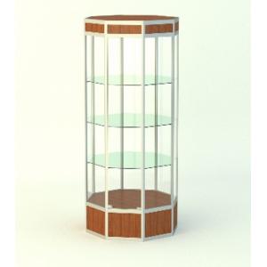 Островная витрина Алмаз 1 с фризом, накопитель 200мм