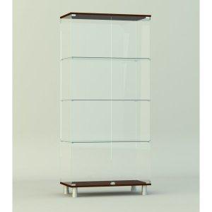 Стеклянная витрина серии СТ 2 1740х412х824мм