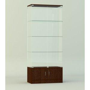 Стеклянная витрина серии СТ 3 2022х412х824мм