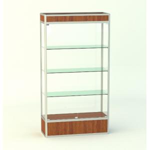 Прямоугольная витрина с фризом и подиумом 300мм
