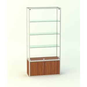 Прямоугольная витрина без фриза, с накопителем 500мм
