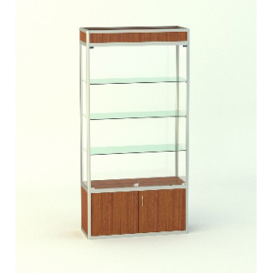 Прямая витрина Малахит с фризом и накопителем 500мм