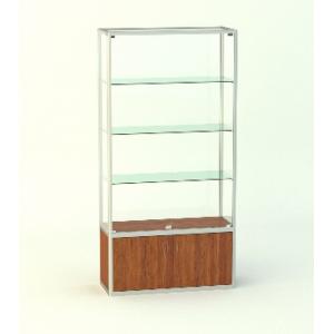 Прямая витрина Малахит без фриза, с накопителем 500мм