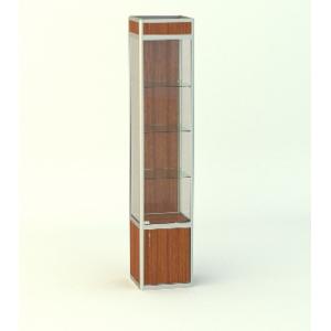 Прямая витрина Стаканчик с фризом и накопителем 500мм