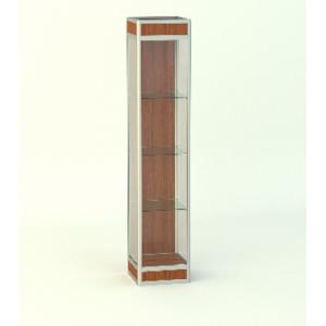 Прямая витрина Стаканчик с фризом подиум 200мм