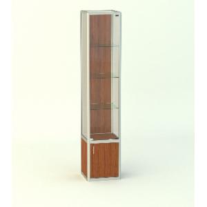 Прямая витрина Стаканчик без фриза с накопителем 500мм
