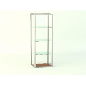 Прямая витрина Стаканчик без фриза и подиума